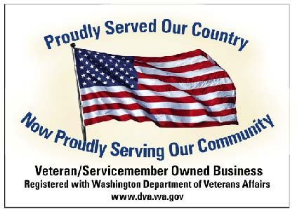 We are also a WDVA Veteran Owned Business!